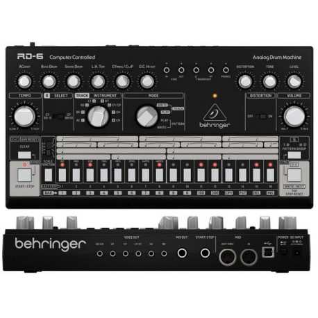 BEHRINGER RD-6-BK Analog Drum Machine - Black