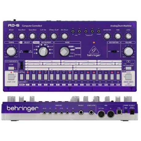 BEHRINGER RD-6-GP Analog Drum Machine - Purple Translucent