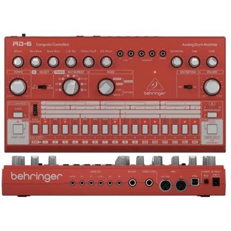 BEHRINGER RD-6-RD Analog Drum Machine - Red