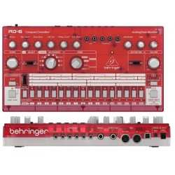 BEHRINGER RD-6-SB Analog Drum Machine - Red Translucent