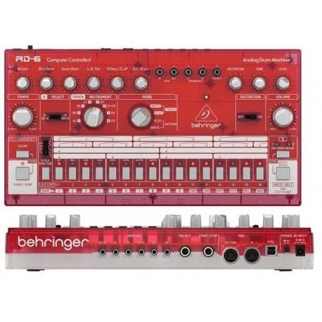 BEHRINGER RD-6-SB Analog Drum Machine - Red Translucent