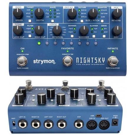 STRYMON Night Sky workstation per la sintesi dei riverberi