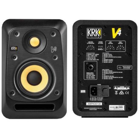 """KRK V4 S4 Black monitor da studio attivo 4""""/1"""" A 2 VIE 85W"""