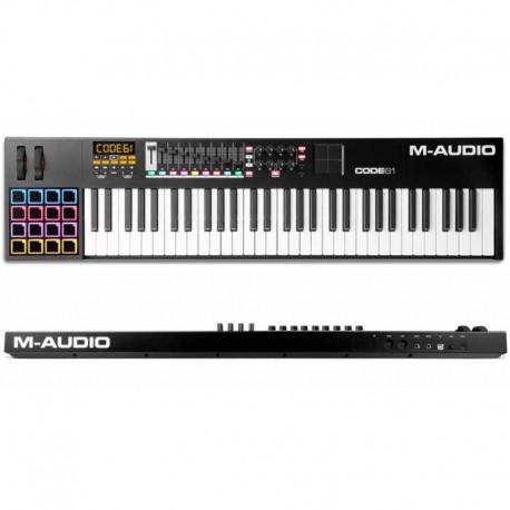 M-AUDIO CODE 61 BLACK USB/midi controller 61 tasti con pad x/y