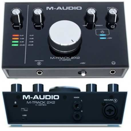 M-AUDIO M-TRACK 2X2 interfaccia audio usb 2in, 2out 24bit/192hKz