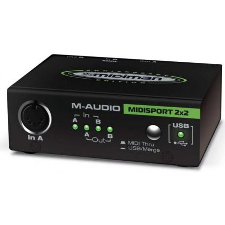 M-AUDIO Midisport 2x2 Anniversary USB interfaccia midi USB