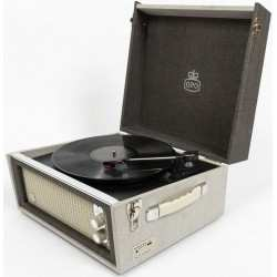 GPO BERMUDA ANTIQUE RECORD PLAYER giradischi retro' con recorder/player USB bluetooth grigio/crema