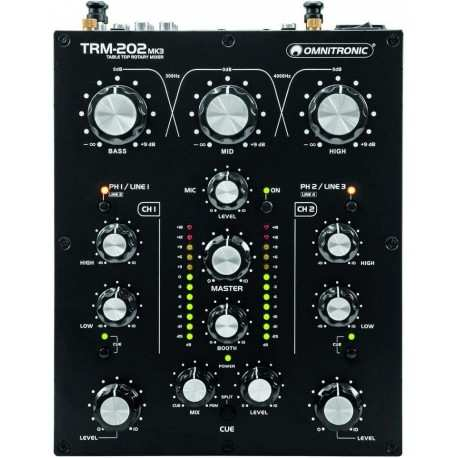 OMNITRONIC TRM-202 MK3 dj rotary mixer a 2 canali