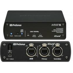 PRESONUS AVB-D16 endpoint plug-and-play che collega le reti AVB e Dante