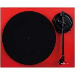 RELOOP TURN 2 giradischi hi-fi a cinghia finitura rossa