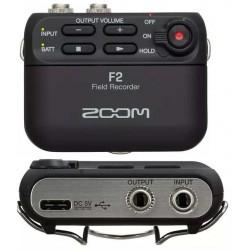 ZOOM F2 Black registratore audio con microfono lavalier