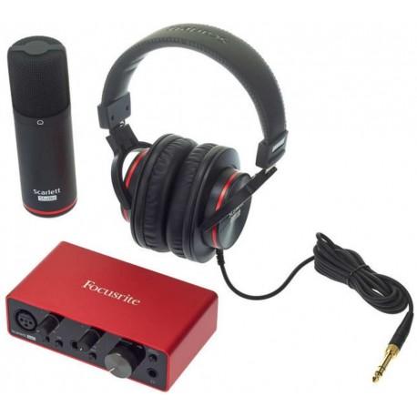FOCUSRITE SCARLETT SOLO STUDIO (3rd Generation) kit interfaccia audio usb con microfono e cuffia