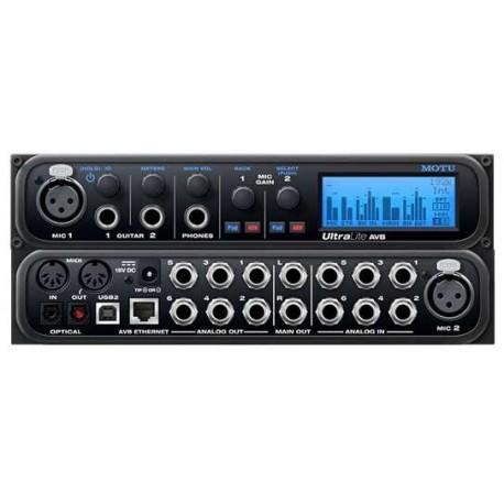 MOTU Ultralite AVB interfaccia audio USB/AVB 18 x 18 I/O, mixaggio dsp, controllo wi-fi e audio networking