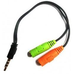 MEDIACOM cavo audio sdoppiatore per cuffia e microfono