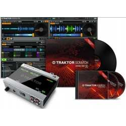 NATIVE INSTRUMENTS TRAKTOR SCRATCH A6 interfaccia audio a6+software digital vinyl+timecode