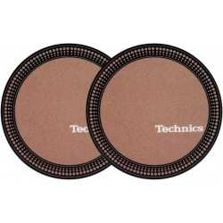 TECHNICS Slipmats Technics Brown Strobo (coppia)