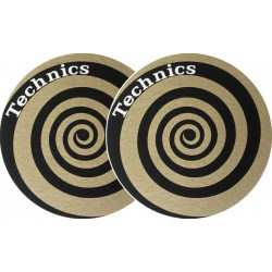 TECHNICS Slipmats Technics Spiral gold (coppia)