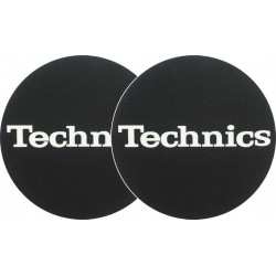 TECHNICS Slipmats Technics White Logo (coppia)