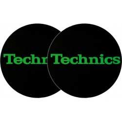 TECHNICS Slipmats Technics Green Logo (coppia)