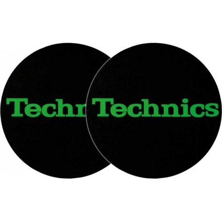 TECHNICS Slipmats Technics Green Logo (coppia)