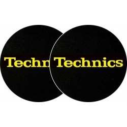 TECHNICS Slipmats Technics Yellow Logo (coppia)
