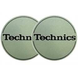 TECHNICS Slipmats Technics Logo Metallic Green (coppia)