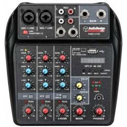 AUDIODESIGN PRO PAMX1.21UK mixer 4 canali USB