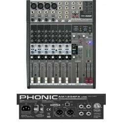 PHONIC AM1204FX USB mixer 8 canali con effetti digitali interfaccia audio usb