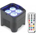 BEAMZ BBP94 par led rgbwa-uv a batteria con telecomando ir