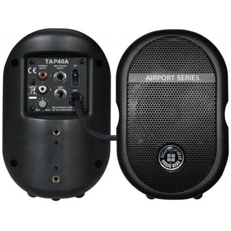 TOPP PRO TAP40A BLACK (COPPIA) casse attive da interno/esterno amplificate 40watt