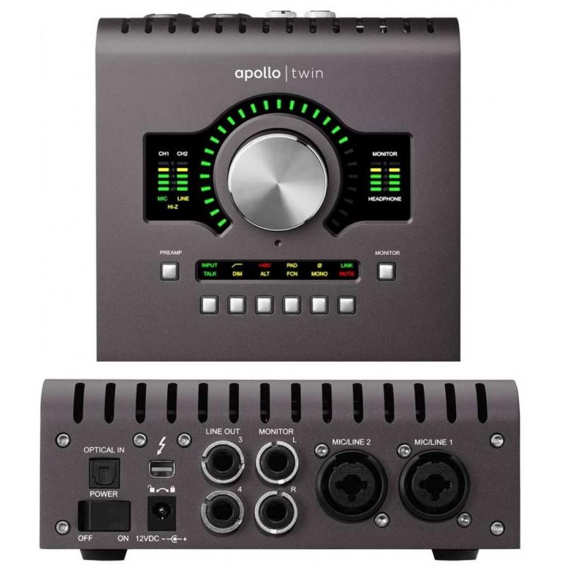 UNIVERSAL AUDIO Apollo Twin Solo MKII interfaccia audio 10x6 thunderbo -  Pianoroll Computer Music Shop