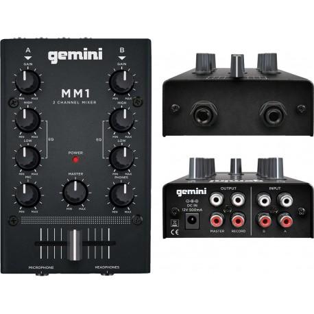 GEMINI MM1 MIXER 2 CANALI PER DJ