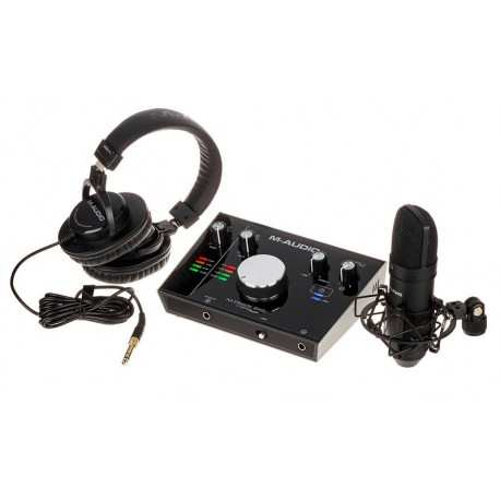 M-AUDIO M-TRACK 2X2 VOCAL STUDIO PRO kit home recording con microfono usb,scheda audio e cuffie