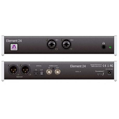 APOGEE Element 24 interfaccia audio thunderbolt per Mac 10in+12out