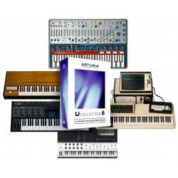 ARTURIA V-COLLECTION suite virtual instruments di synth, pianoforti e organi. versione Box