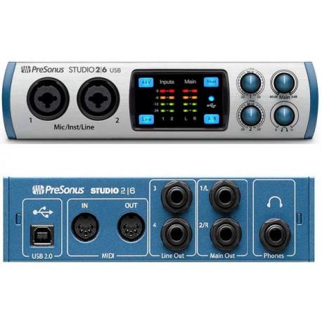 PRESONUS STUDIO 2|6 interfaccia audio USB 2x4 con 2 preamp microfonici XMAX-L