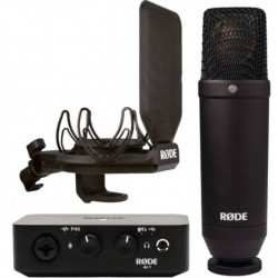 RODE COMPLETE STUDIO KIT microfono cardioide con interfaccia audio , sospensione elastica e filtro anti pop